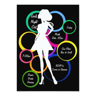 Noche de los chicas de la diva del disco hacia invitación personalizada
