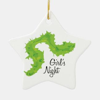 Noche de los chicas adorno de cerámica en forma de estrella