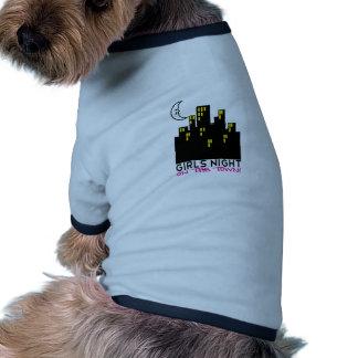 Noche de los chicas en la ciudad camiseta de perrito