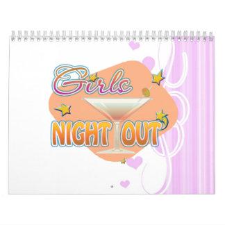 noche de los chicas hacia fuera, anoche hacia fuer calendario