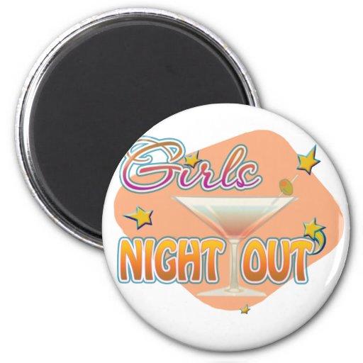 noche de los chicas hacia fuera, anoche hacia fuer imanes