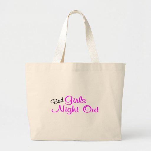 Noche de los chicas hacia fuera bolsa tela grande