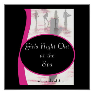 Noche de los chicas hacia fuera, el theSpa de Outa Póster