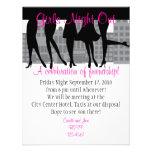 Noche de los chicas hacia fuera comunicados personales
