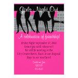 Noche de los chicas hacia fuera invitaciones personales