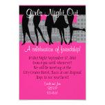 Noche de los chicas hacia fuera invitación 8,9 x 12,7 cm