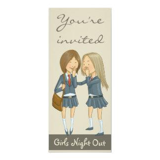 """Noche de los chicas hacia fuera invitación 4"""" x 9.25"""""""