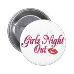 Noche de los chicas hacia fuera pin