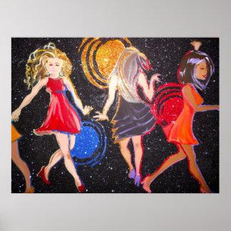 Noche de los chicas hacia fuera póster