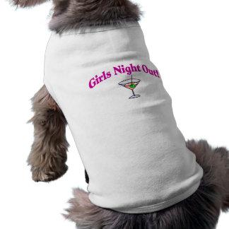 Noche de los chicas hacia fuera camisetas mascota