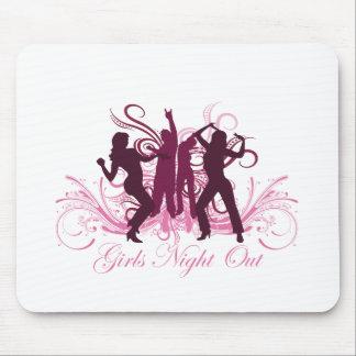 noche de los chicas hacia fuera tapetes de raton