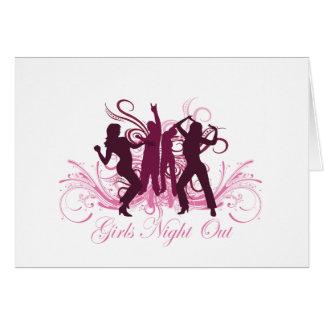 noche de los chicas hacia fuera felicitaciones