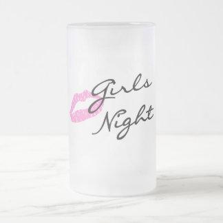 Noche de los chicas jarra de cerveza esmerilada
