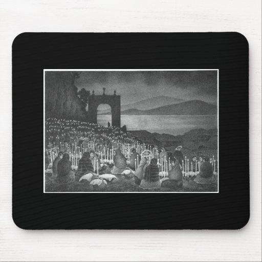 Noche de los muertos. Janitzio, México. c. 1958 Tapete De Ratón