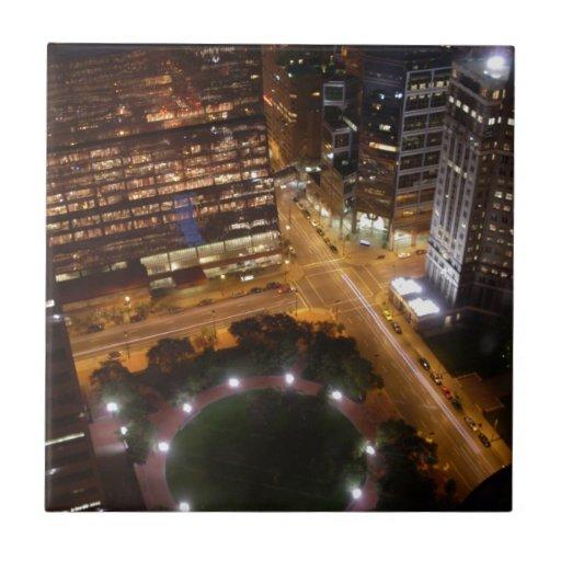 Noche de Minneapolis Minnesota en la ciudad Azulejos Ceramicos