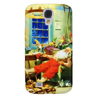 Noche de navidad de Santa y de señora Claus Relax Carcasa Para Galaxy S4