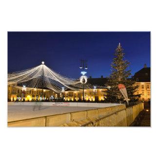 Noche de navidad en Sibiu, Rumania Impresiones Fotográficas
