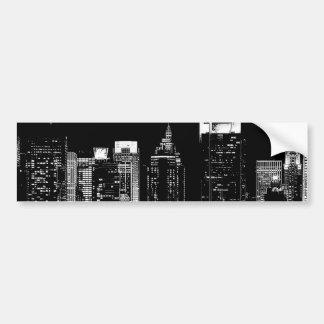 Noche de New York City Pegatina Para Auto