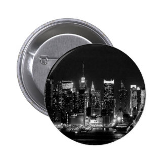 Noche de New York City Pin Redondo 5 Cm