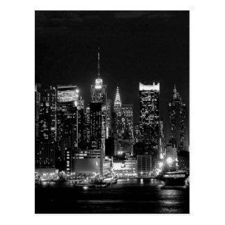 Noche de New York City Tarjetas Postales