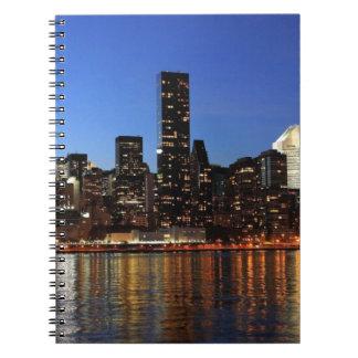 Noche de NYC New York City Manhattan Libros De Apuntes