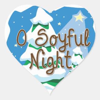 Noche de O Soyful Calcomanía De Corazón