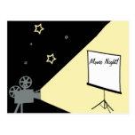 noche de película debajo de las estrellas tarjetas postales