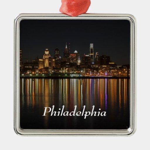 Noche de Philly Ornamentos De Navidad