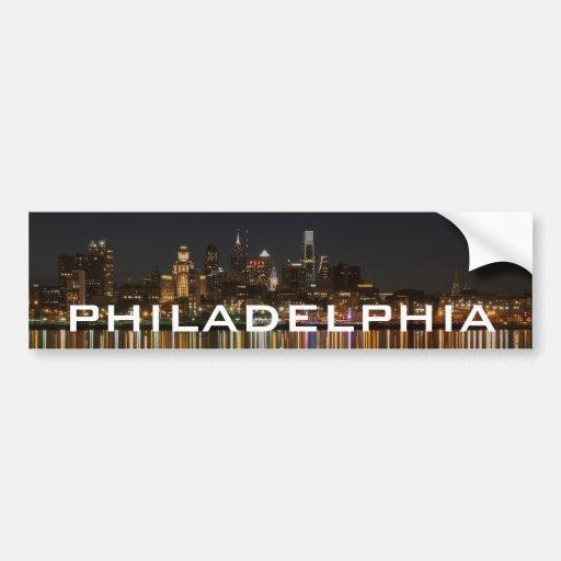 Noche de Philly Pegatina De Parachoque