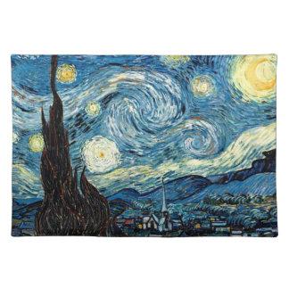 Noche de Stary de Van Gogh - estera de lugar Manteles Individuales