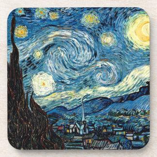 Noche de Stary de Van Gogh - práctico de costa del Posavasos De Bebidas