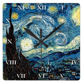 Noche de Stary de Van Gogh - reloj