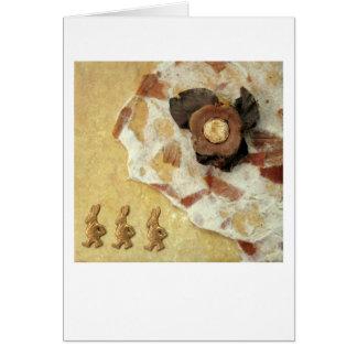 Noche de tres liebres - collage tarjeta de felicitación