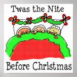 Noche de Twas antes del navidad Poster