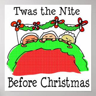 Noche de Twas antes del navidad Póster