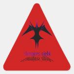 Noche de Vampires´ Pegatina Triangular