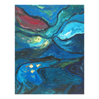 Noche de verano paisaje del expresionismo abstrac membrete