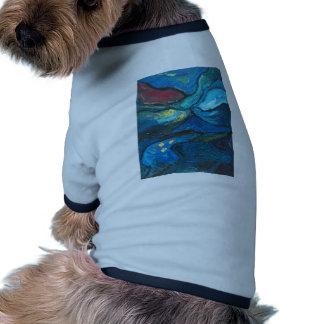 Noche de verano paisaje del expresionismo abstrac camisa de mascota