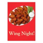 Noche del ala invitación personalizada