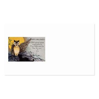 Noche del árbol de la Luna Llena del gato negro Tarjeta De Visita