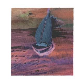 Noche del arte del velero de la navegación que nav blocs de papel