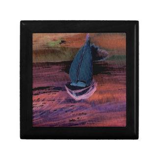 Noche del arte del velero de la navegación que nav caja de joyas