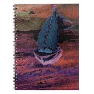 Noche del arte del velero de la navegación que nav cuadernos