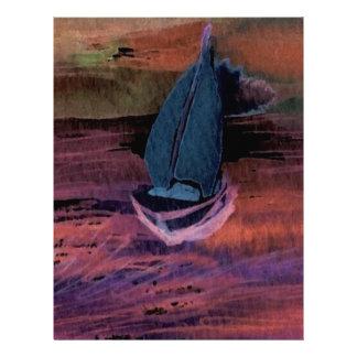 Noche del arte del velero de la navegación que nav plantillas de membrete