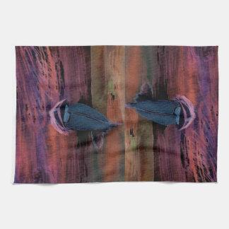 Noche del arte del velero de la navegación que nav toalla de mano