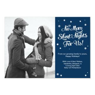 """Noche del aviso de la tarjeta de la foto del invitación 5"""" x 7"""""""