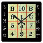 Noche del bingo relojes