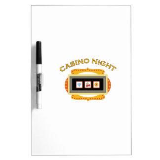Noche del casino pizarra