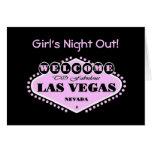 """Noche del chica rosado de Las Vegas logotipo la """"h Felicitacion"""