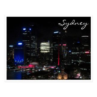 noche del cielo de Sydney Postales